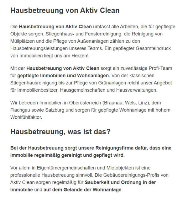 Hausbetreuung für  Salzburg