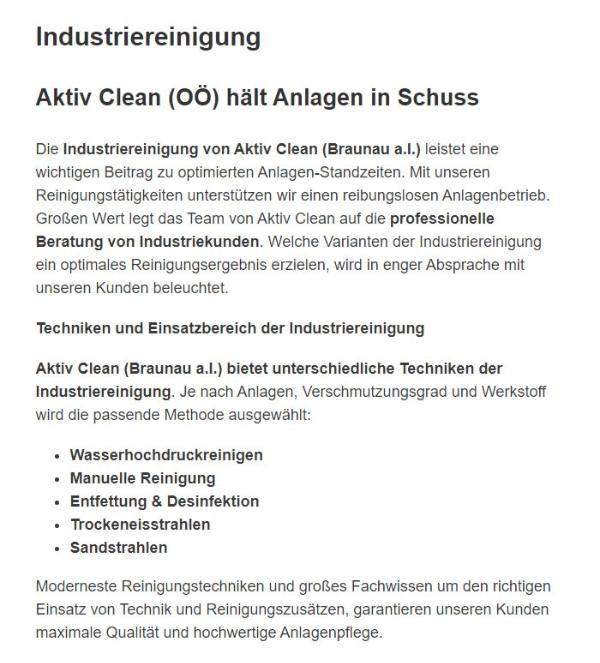 Industriereinigung für  Salzburg